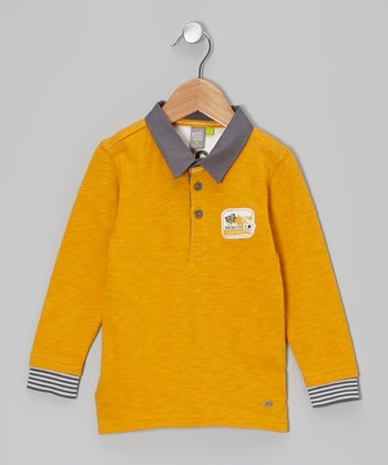 Mustard Long Sleeve Polo - Toddler & Boys