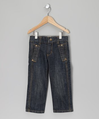 Blue Denim Slit-Pocket Jeans - Toddler & Boys