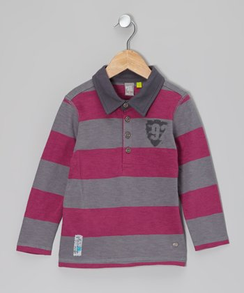 Hyacinth Stripe Rugby Polo - Toddler & Boys