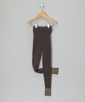 Brown Charcoal Leggings - Toddler & Girls
