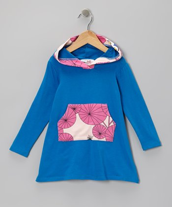 Turquoise Owl Jasmyn Hooded Dress - Toddler & Girls