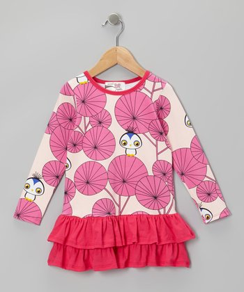 Pink Owl Mccall Drop-Waist Dress - Infant, Toddler & Girls