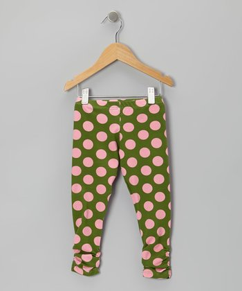 Pink Polka Dot Bea Leggings - Infant, Toddler & Girls