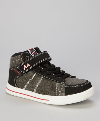 Black & Red Hi-Top Sneaker