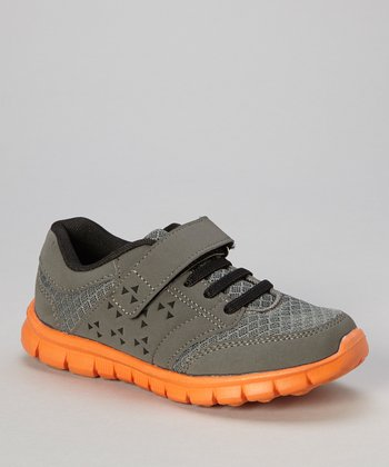 Gray & Orange Adjustable Sneaker