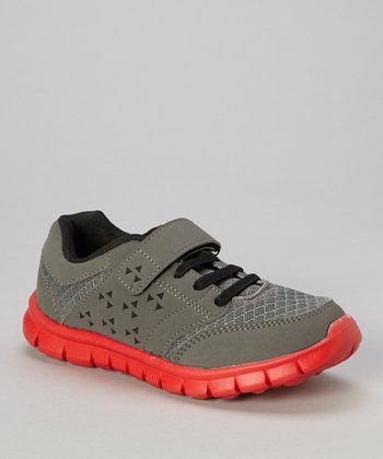 Gray & Red Adjustable Sneaker