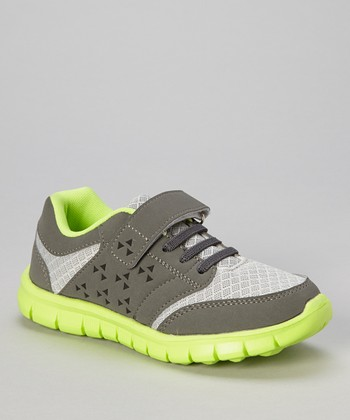 Gray & Green Adjustable Sneaker