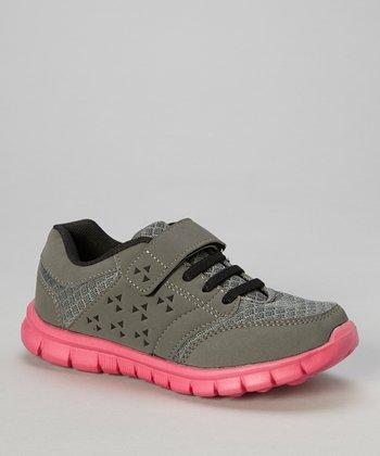 Global Max Gray & Hot Pink Adjustable Sneaker