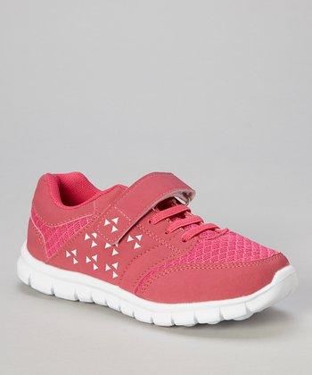 Global Max Hot Pink & White Adjustable Sneaker