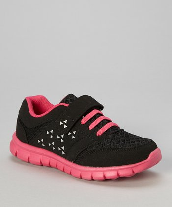 Black & Hot Pink Adjustable Sneaker