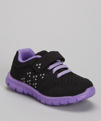 Black & Purple Adjustable Sneaker
