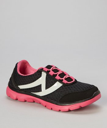 Hot Pink & Black Swoosh Sneaker