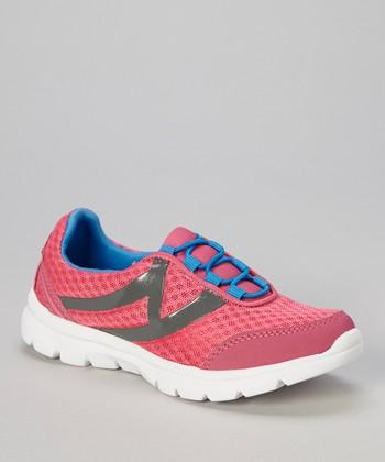 Global Max Hot Pink & Blue Swoosh Sneaker