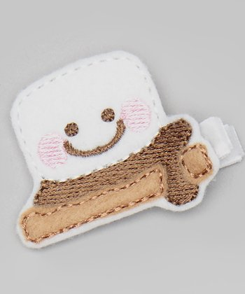 Fireside Marshmallow Treat Felt Clip