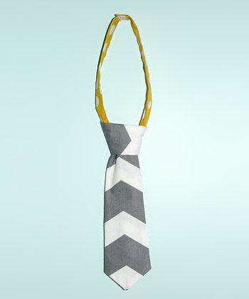 Gray & White Chevron Tie