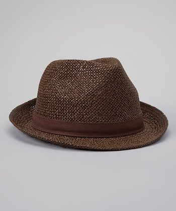 Brown Toyo Straw Fedora