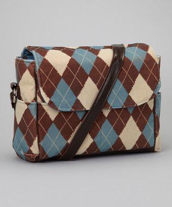 Brown Argyle Baby Bag