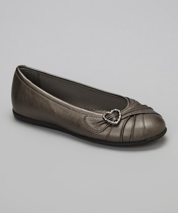 Pewter Metallic Gemma Flat