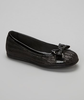 Black Sequin Irina Flat