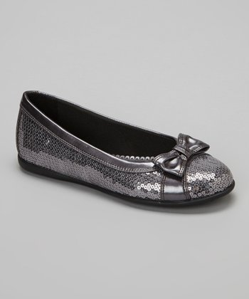 Pewter Sequin Irina Flat