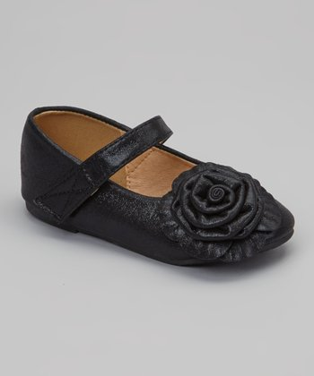 Black Rosette Stella Mary Jane