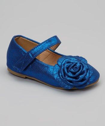 Blue Rosette Stella Mary Jane