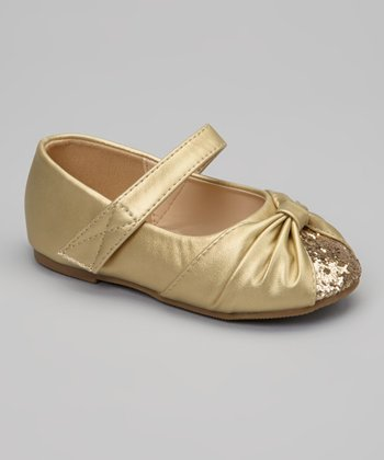 Gold Glitter Cupcake Mary Jane