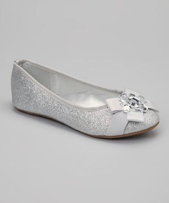 Silver Glitter Cupcake Flat