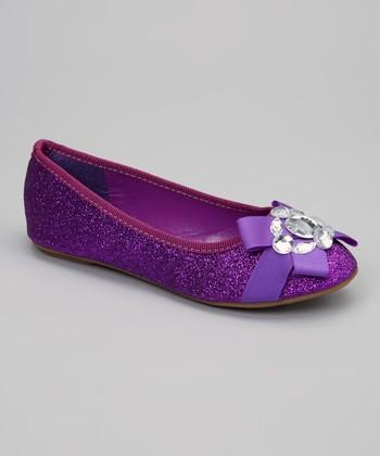 Purple Glitter Cupcake Flat