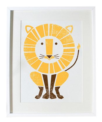 Lion Large Screen Print