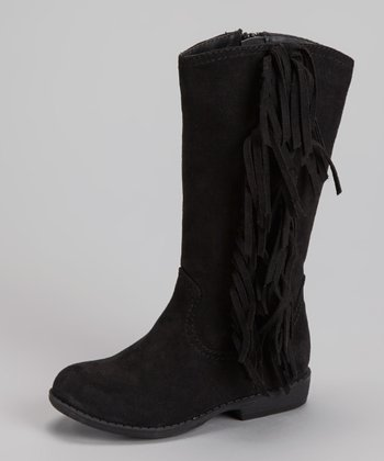 Black Fringe Spruce Boot