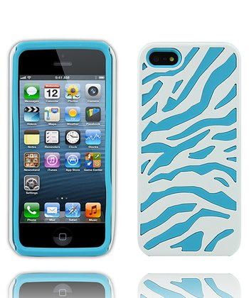 Aqua & White Case for iPhone 5