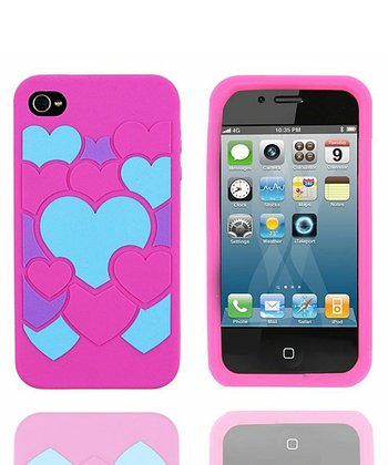 Bubble Heart Colorful Case for iPhone 4/4S