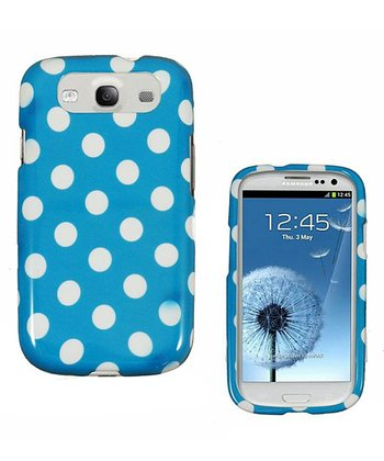 Blue & White Polka Dot Case for Samsung Galaxy S III