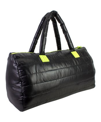 Black Puffy Duffel Bag