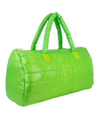 Lime Puffy Duffel Bag