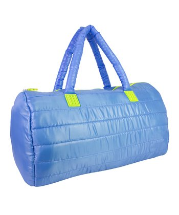 Blue Puffy Duffel Bag