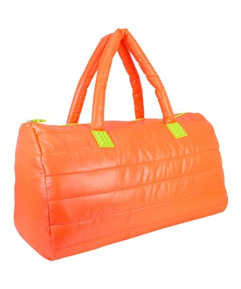 Tangerine Puffy Duffel Bag