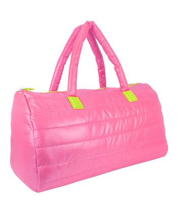Pink Puffy Duffel Bag