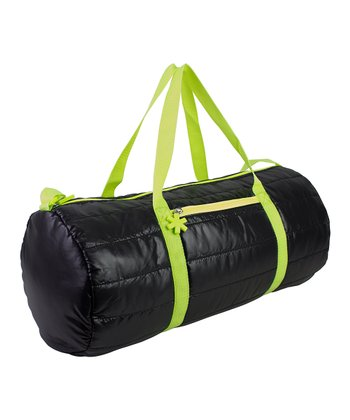 Black Puffy Medium Duffel Bag