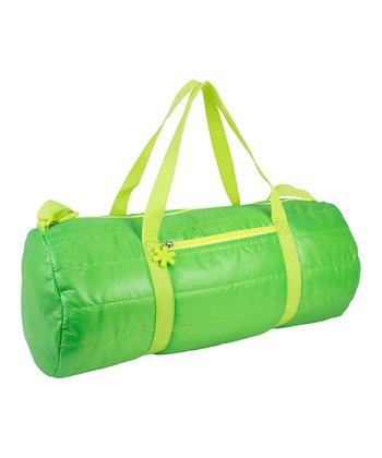 Lime Puffy Medium Duffel Bag