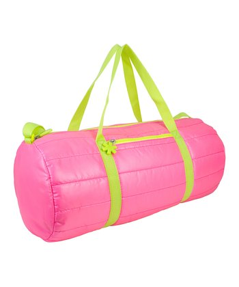 Pink Puffy Medium Duffel Bag