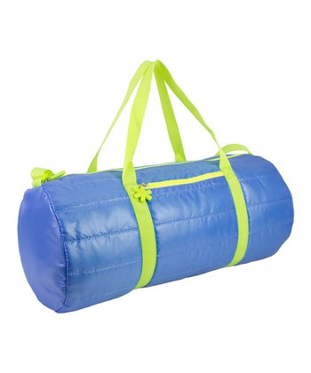 Blue Puffy Medium Duffel Bag