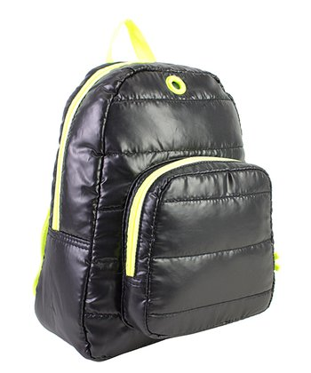 Black Puffy Backpack