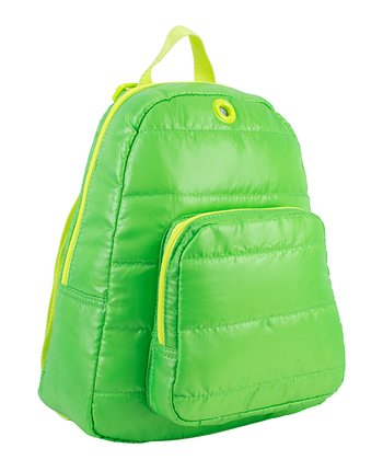 Lime Puffy Backpack