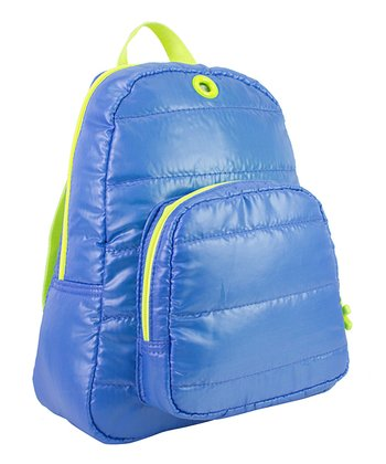 Blue Puffy Backpack