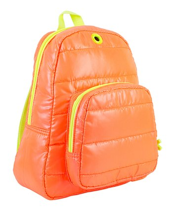 Tangerine Puffy Backpack