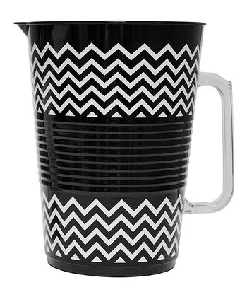 Black Zigzag Party Pitcher