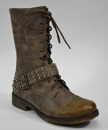 Brown Mid Boot - Women