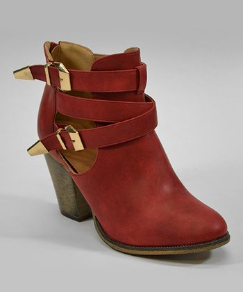 Red Orlando Ankle Boot